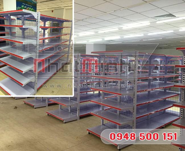 Giá kệ siêu thị đôi 7 tầng – NhatMinh.Net