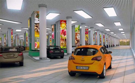 Lối đi trong siêu thị hiện đại nhất thế giới