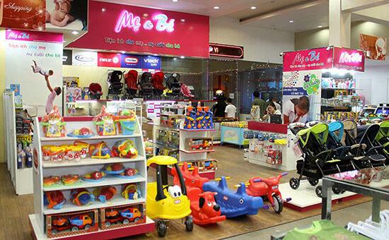 Lựa chọn giá kệ cho cửa hàng mẹ và bé