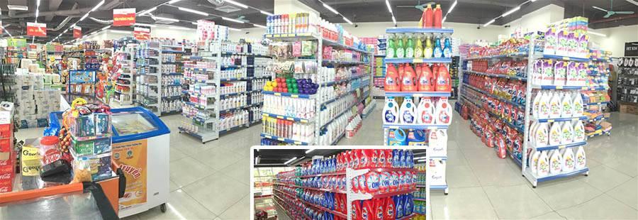 Lựa chọn màu sắc giá kệ cho siêu thị mini để hàng hóa