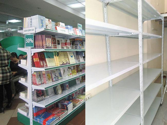 Lựa chọn kệ để hàng cho cửa hàng sách