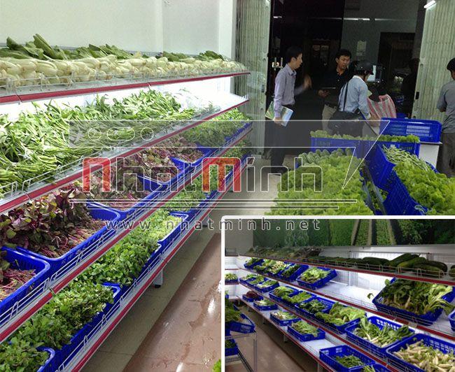 Kệ siêu thị cho cửa hàng rau sạch