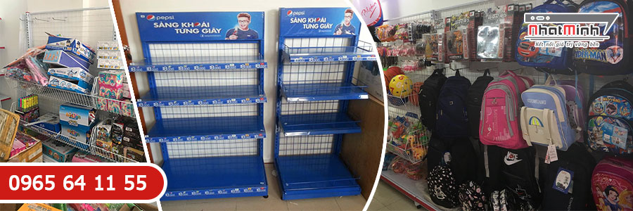 Giá kệ siêu thị áp tường
